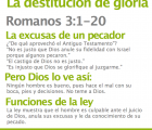 Romanos 3.1-20 La destitucin de gloria